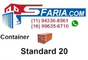 Container Standard 20 pés