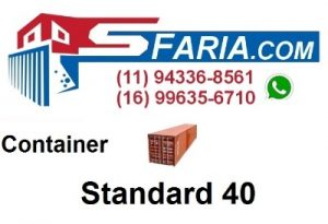 Container Standard 40 pés