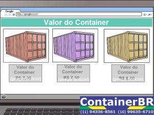 Escolhendo seu container, preço de container