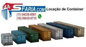 Locação de Container Escritório Locação de Container Depósito Locação de Container Almoxarifado