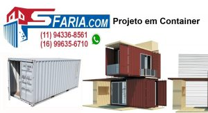 Projeto em Container DRY Projeto em Container HC high cube Projeto em Container REEFER